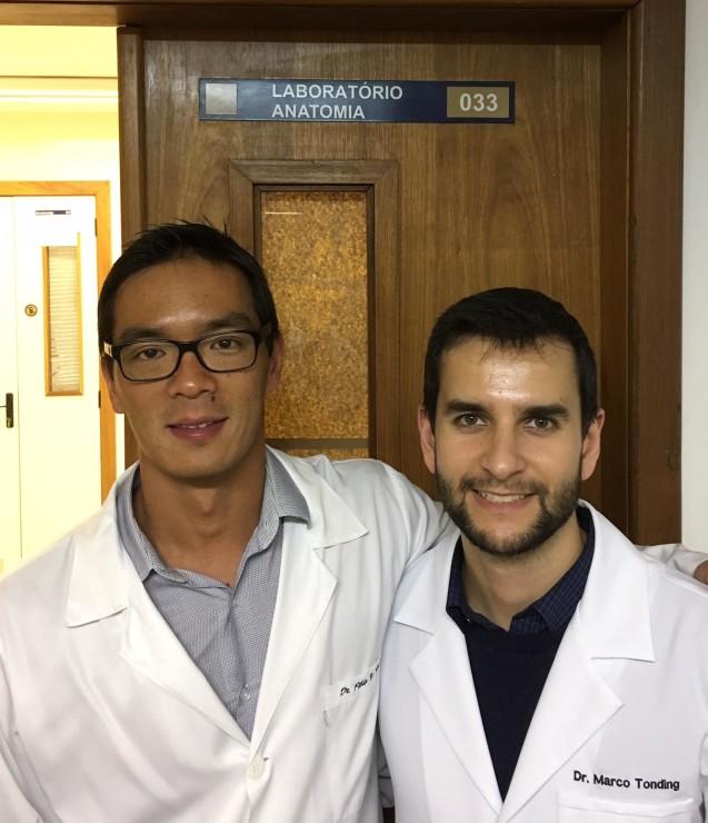 Treinamento em Técnicas Cirúrgicas no Laboratório de Anatomia da UFCSPA.