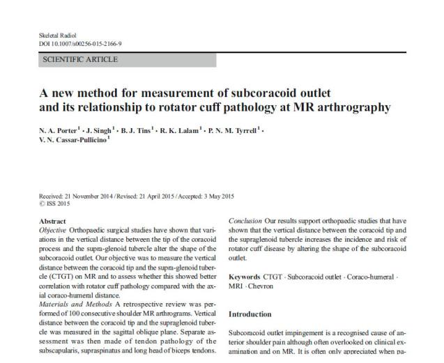 Artigo apresentado pelo Radiologista Dr Daniel Zimmermann