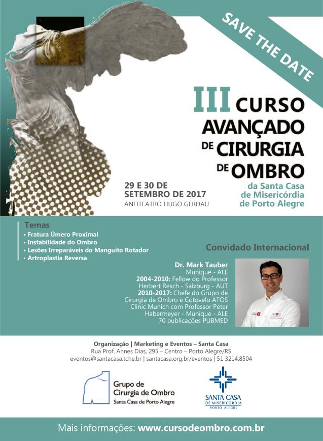 Não perca! Os principais cirurgiões de Ombro do Brasil se reunirão em Porto Alegre!