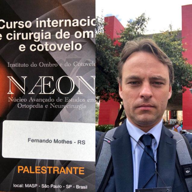 Dr. Fernando Mothes palestrante em evento do NAEON