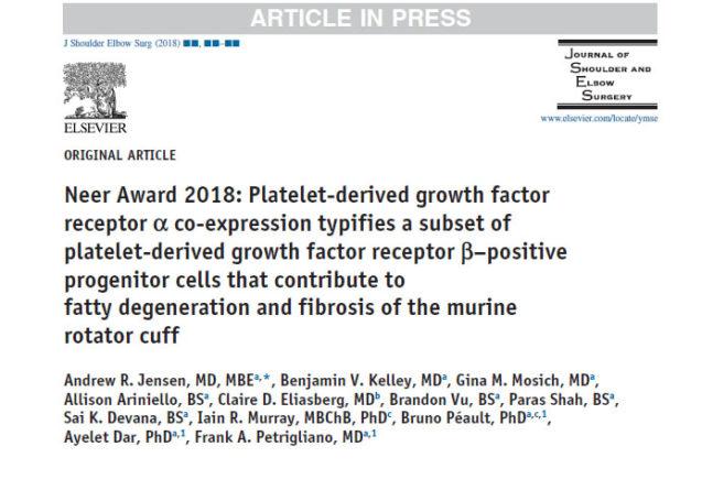 Discussão: Co-expressão do receptor α do fator de crescimento.