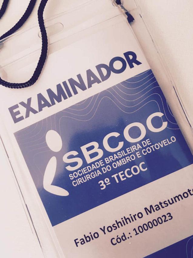 Dr Fabio Matsumoto examinador da prova da SBCOC