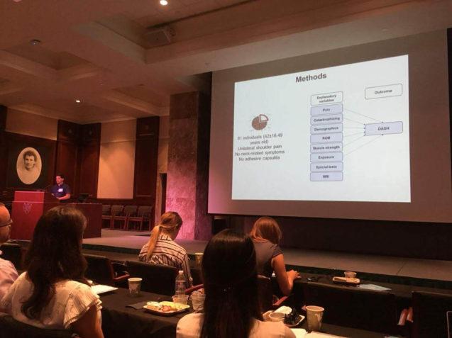 Dr. Rodrigo Py apresenta resultados de sua tese de doutorado no 12º International Shoulder Group